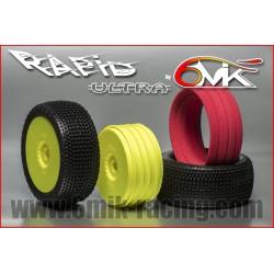 Neumático pegado 1/8 6Mik ULTRA Rapid-0/18 (2 uds)