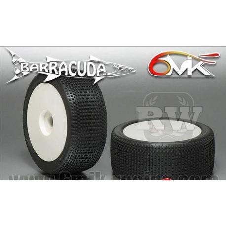 Neumático pegado 1/8 6Mik BARRACUDA-0/18 (2 uds)
