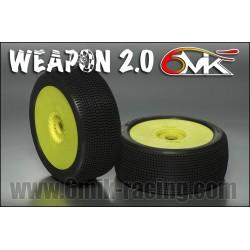 Neumático pegado 1/8 6Mik ULTRA WEAPON-0/18(2 uds)