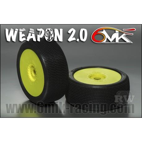 Neumático pegado 1/8 6Mik ULTRA WEAPON-15/25 (2 uds)