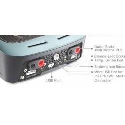 Cargador Dual 200W Skyrc D200 con soldador