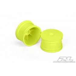 Llanta Proline Velocity 1/10 Trasera amarilla (2uds)