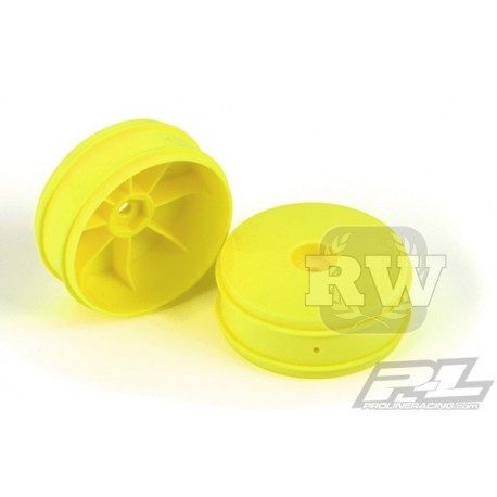 Llanta Proline Velocity 1/10 Delantera amarilla (2uds)
