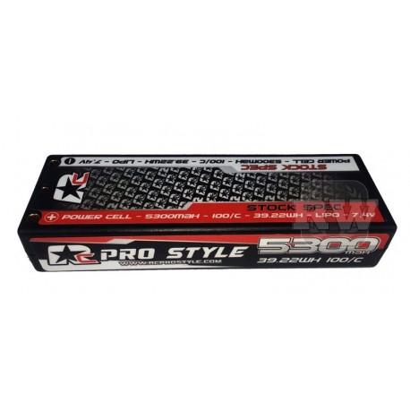 LiPo RC ProStyle 7,4V, 100C, 5300mAh Stock Spec