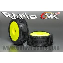 Neumático pegado 1/8 6Mik Rapid-CS (2 uds)